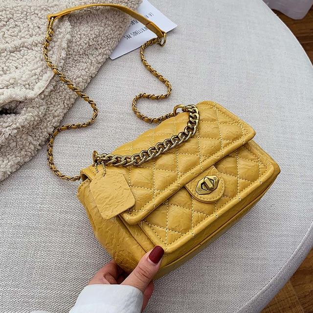 Luxury Handbags PU Leather Chain Designer Crossbody Bags for Women 2019 Small Shoulder Messenger Bag Female Travel Lock Handbags