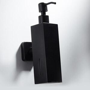 Image 2 - 304 ze stali nierdzewnej naścienny mydło w płynie butelka z dozownikiem zlew kuchenny i umywalka łazienkowa balsam ręczny czarny 210ml wisząca butelka