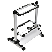 Aluminum Alloy Fishing Rod Rack Fishing Rod Storage Rack Holder Stand Up To 12 Rods for All Types of Fishing Rods and Combos|Fishing Tools|Sports & Entertainment -