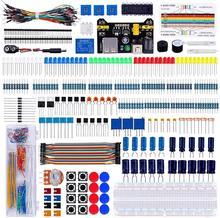 Супер комплект электронных компонентов Keywish с джампером, цветным светодиодом, резисторами, регистрационной картой, зуммером для Arduino