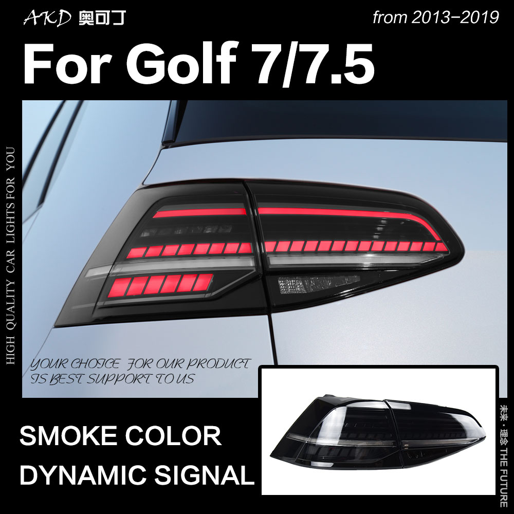 Car Styling Tail Lamp For VW Golf 7 Tail Light 2013-2019 Golf 7.5 Golf7 Rear Stop LED DRL Smoke Color Reverse Auto Accessories