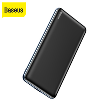 Baseus 10000mAh Power Bank PD3.0 Quick Charger Type C 3A Fast Charge Portable External Battery Charger Powerbank With 0.5m Cable