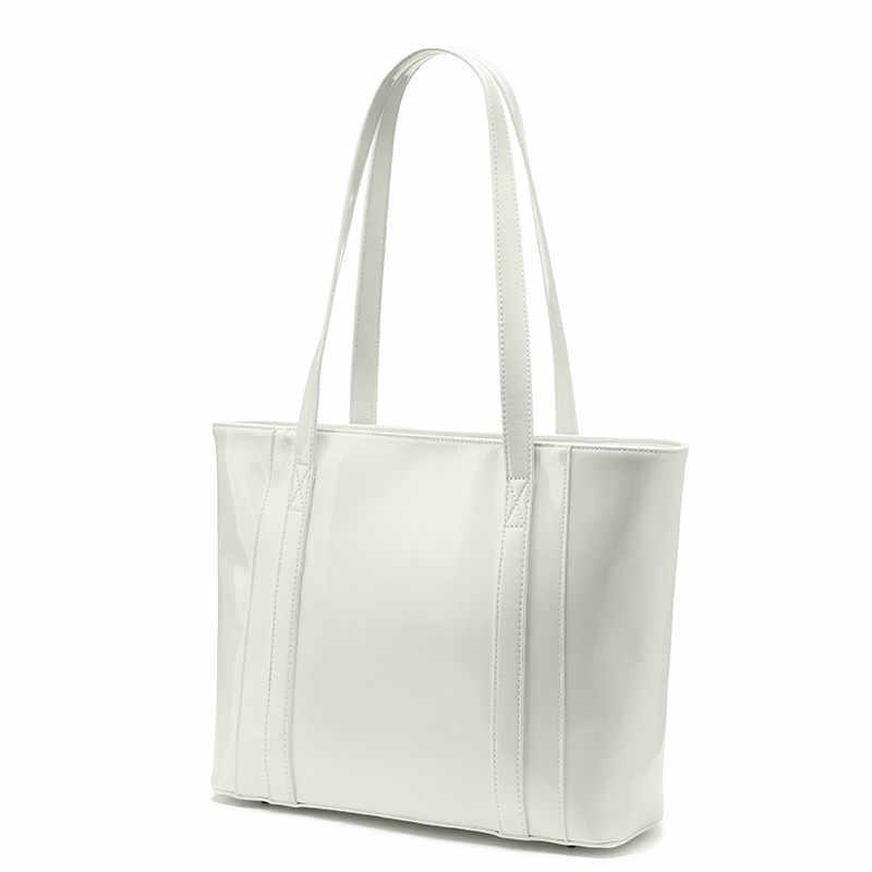 Kadın omuzdan askili çanta büyük tote çanta tasarım çanta çizilmeye dayanıklı Mikrofiber Sentetik deri postacı çantası