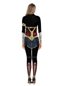 Image 4 - Wonder Woman Costumi Delle Donne Supereroe Diana Costume Costume di Halloween per Le Donne Vestito Sexy Diana Carnevale Cosplay disfraz mujer