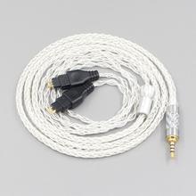 LN006543 3.5mm 2.5mm XLR 4.4mm 8 câble découteurs OCC plaqué argent pour Sennheiser HD580 HD600 HD650 HDxxx HD660S