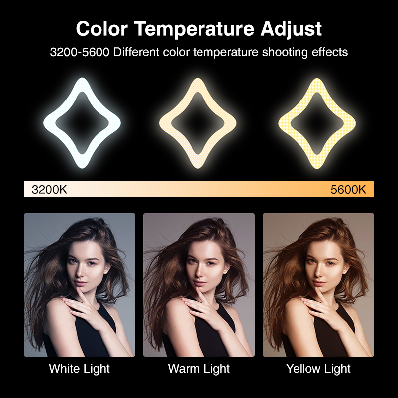 Image 5 - 2019 New 15 inch Ring Light Star Lamp Bi color Photographic Light Extreme Star Light with Light Stand for YouTube Live Stream-in Photographic Lighting from Consumer Electronics