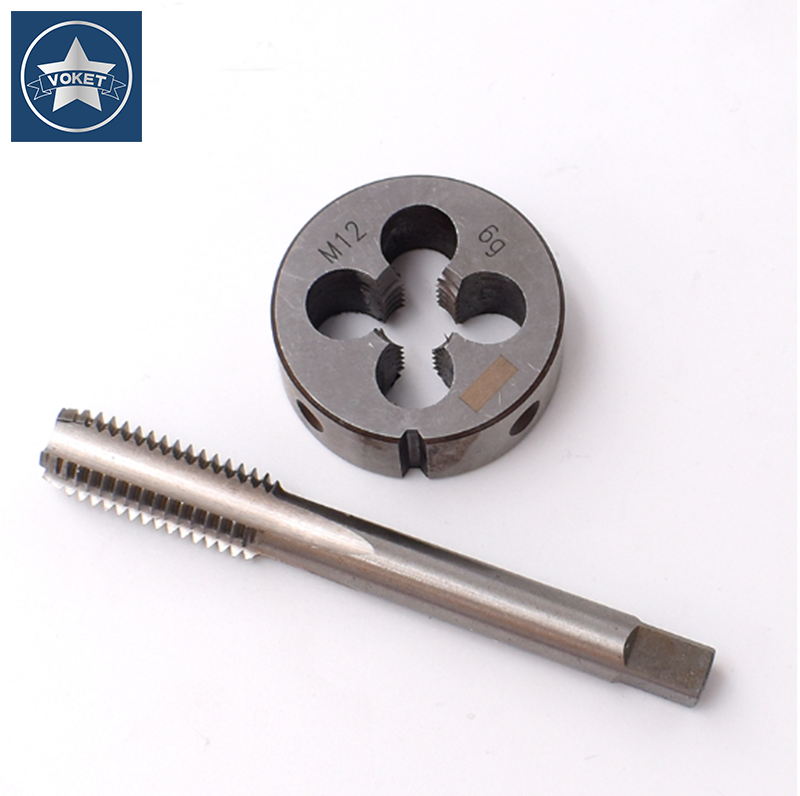 M12 M14 M16 Manual Screw Thread Metric Plugs Taps Wrench Die Wrench Tap 1 Set