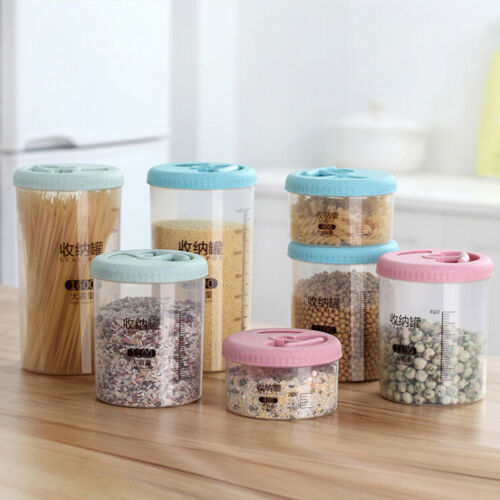 Plastic Cereal Dispenser Storage Box Kitchen Food Grain Rice Snacks Container Case Organizer Tubs with Lids Deli Pot Sauce Dip