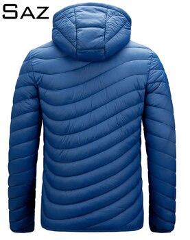 Saz Men's Down Jacket Ultra Light Down Jacket Men Windbreaker Feather Jacket Man Lightweight Portable Warm Coat