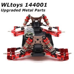 Wltoys 144001 Parts for WLtoys-s 1:14 RC Car Upgraded Accessories Metal Steering Swing Arm Base Rear Hub Seat Servo Pull Rod