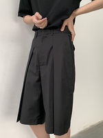 S 7XL!!Men's pleated shorts pants are low key but can also be a visual focus in summer bottoms