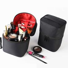 PUOU Cylindrical Cosmetic Bag Women Makeup Bag Pouch Toiletry Bag Waterproof Makeup Organizer Case Necessaire Travel Makeup Bag