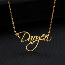 Custom Name Necklace Pendant Stainless Steel Nameplate Necklaces for Women Girls Mom Customization Jewelry Unique Birthday Gifts