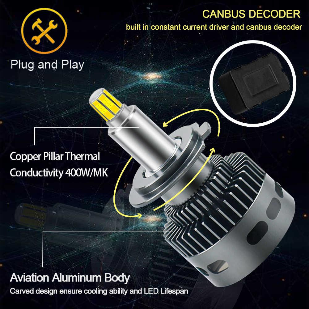 4 шт. H1 H3 H11 H7 яркие автомобильные лампы, лампы 36 импорт светодиодный чип: 6-стронние Кубики-H8 H11 HB3 9005 HB4 9006 9012 HIR2 D1S D2S D3S 50 Вт 3D 360 градусов автоматическое Противотуманные фары 6000 К белый
