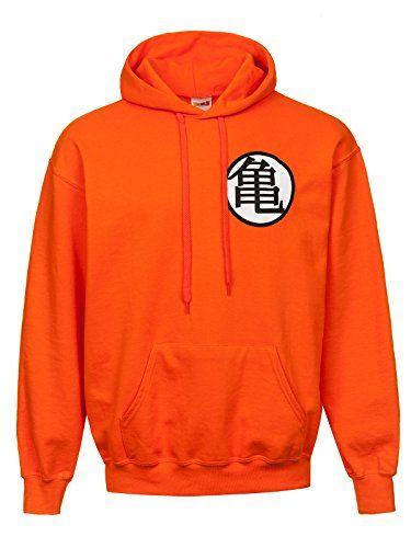 Dragon Ball Z Symbols Hooded Sweatshirt Orange L