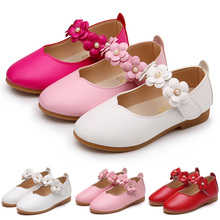 Children Kids Baby Toddler Flower Children Wedding Party Dress Princess Casual Leather Shoes For Girls School Soft Dance Shoes 3 цена 2017