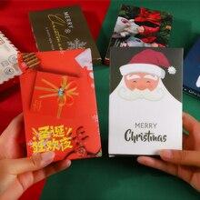 30 Pcs/Box Christmas Greeting cards /thank you / blessing card / message card / Postcard Birthday gift stationery school supplie 30 pcs box kawaii cartoon alice greeting card blessing card message cards birthday card postcard gift