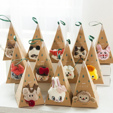 Christmas Cartoon 3D Three-dimensional Socks Autumn Winter New Coral Velvet Thickening Half Home With Box