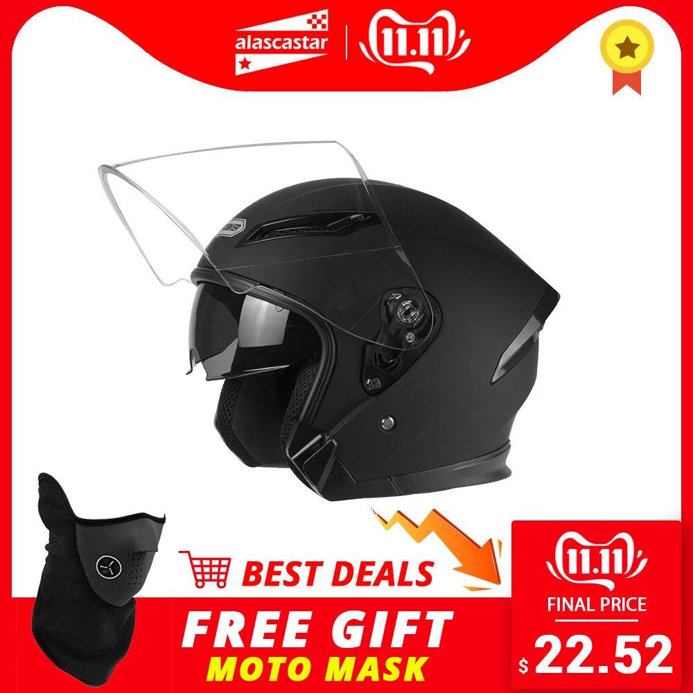 Herobiker capacete da motocicleta dos homens moto motocross casco capacete de moto para a motocicleta de corrida meio rosto capacete