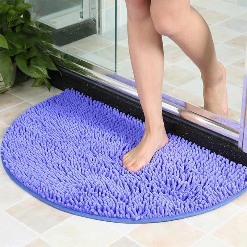 Washable Non-Slip Memory Oval Rugs Foam Door Hall Mat Soft Bedroom Small Carpet