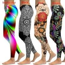 Legging feminina plus size, flor 2020, para treino, spandex, fitness, sem costura, holográfica, S-5XL