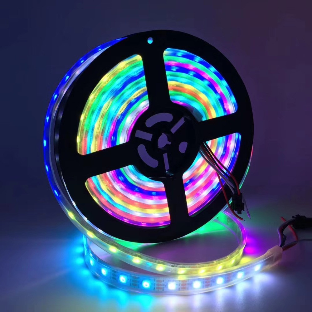 WS2812B LED Strip RGB Tape 30/60/144 Leds/m Ws2812 Individually Addressable Fita  Pixel Strips For PC Ambilight Neon Light DC 5V