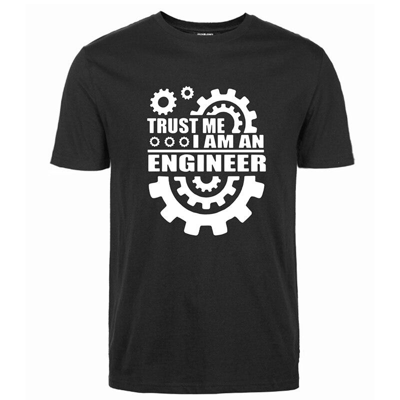 Verão 2019 algodão masculino t-shirts confie em mim, eu sou um engenheiro t-shirts o-pescoço camisetas engraçado streetwear marca roupas