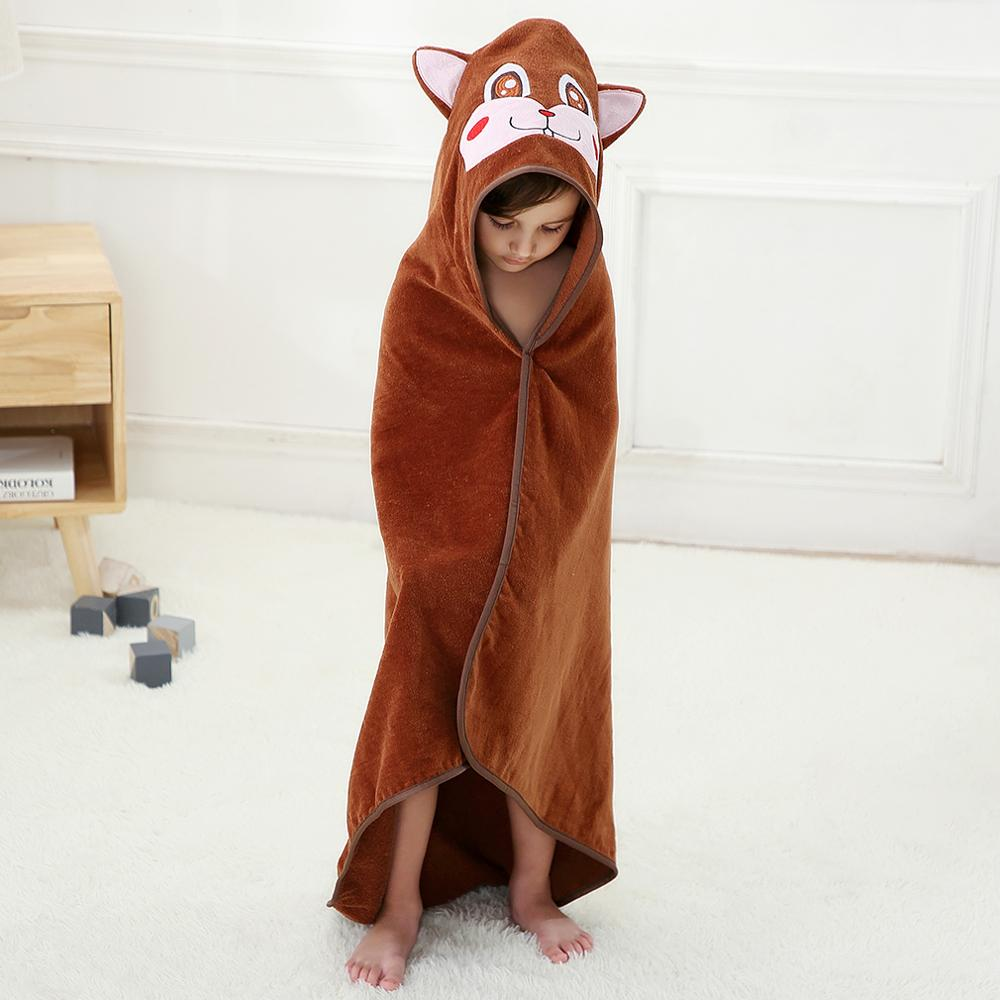 MICHLEY Baby Bath Towel 100% Cotton Hooded Poncho Infant Beach Spa Blanket Kid Animal Modeling Towel Children Bathrobe Cloak