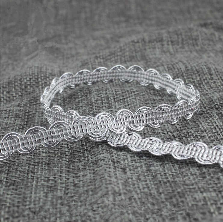 90Yards Gold Lace Ribbon Silver Trims Braided For Costume Decoration High Quality DIY Centipede Braided Ribbon Sewing Supplies