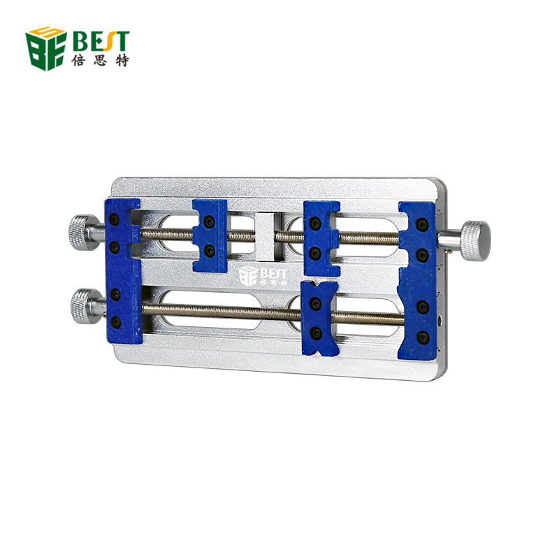 High Temperature Double Axis PCB Board Holder Fixture Aluminum Alloy Fixed Base for Motherboard Soldering Repair Holder