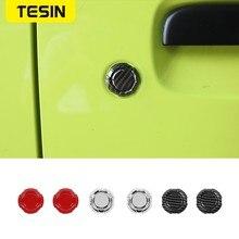 TESIN 2 sztuk samochodów drzwi klucz Jack wykończenia Protect dekoracyjny pokrowiec dla Suzuki Jimny 2019 2020 ABS samochód akcesoria zewnętrzne
