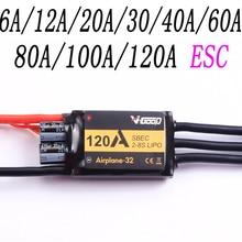 Muy bien sin escobillas ESC 6A/12A/20A/30/40A/60A/80A/100A/120A 2S de 32-bits con 1.5A SBEC para RC avión ACC