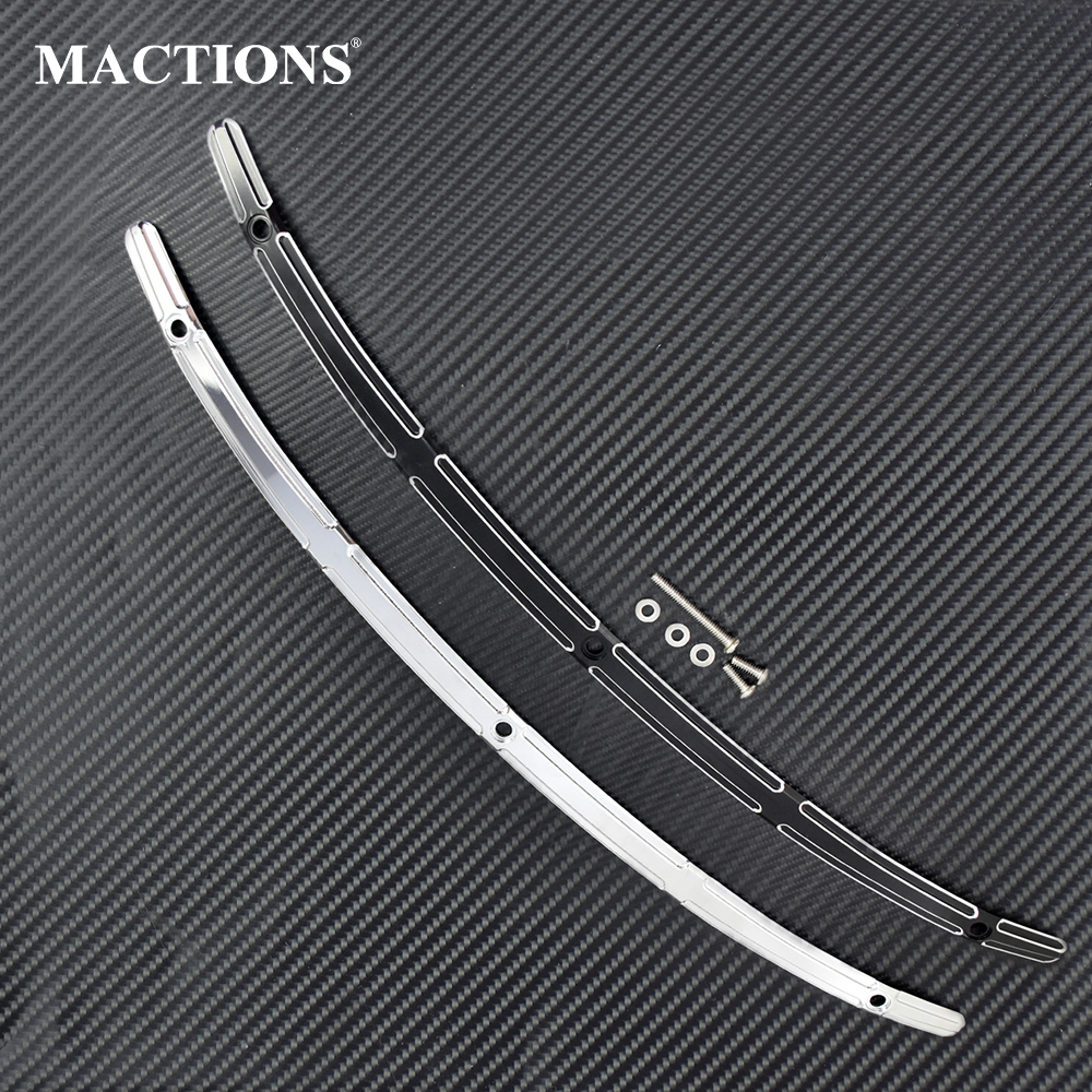 Motorcycle Windscreen Windshield Trim CNC For Harley Touring Electra Glide Ultra Limited Street Tri Glide FLHX 2014 2015 2016 Up|Windscreens & Wind Deflectors| |  - title=