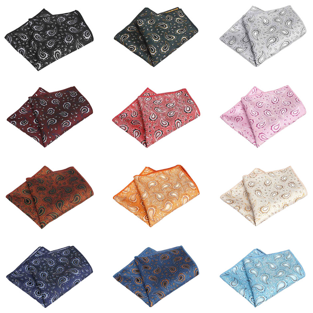 Mens Classic Paisley Flower Handkerchief Wedding Party Pocket Square Hanky QNTIE0317
