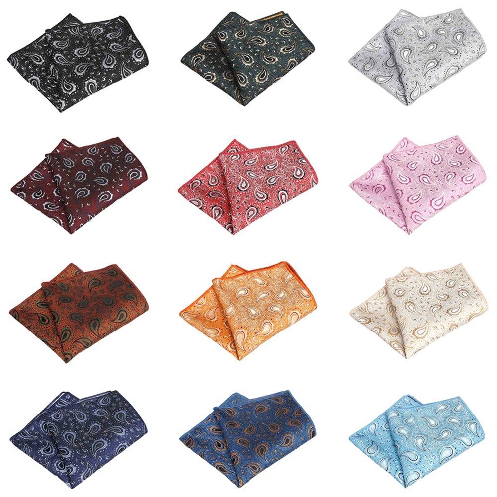 Mens Classic Paisley Flower Handkerchief Wedding Party Pocket Square Hanky QNTIE0317