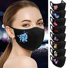 Masque facial Lavable et respirant pour adultes, imprimé de fleurs, pour Femme