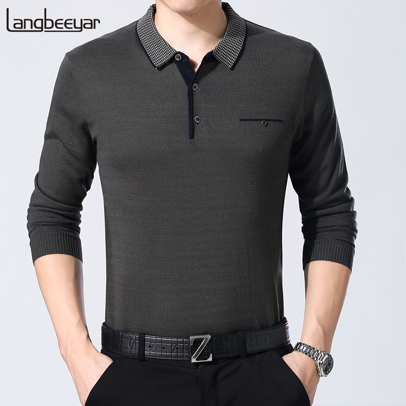 New Fashion Brand Sweater For Mens Turndown Korean Collar Slim Fit Jumpers Knitwear Autumn Pullovers Style Casual Clothing Male