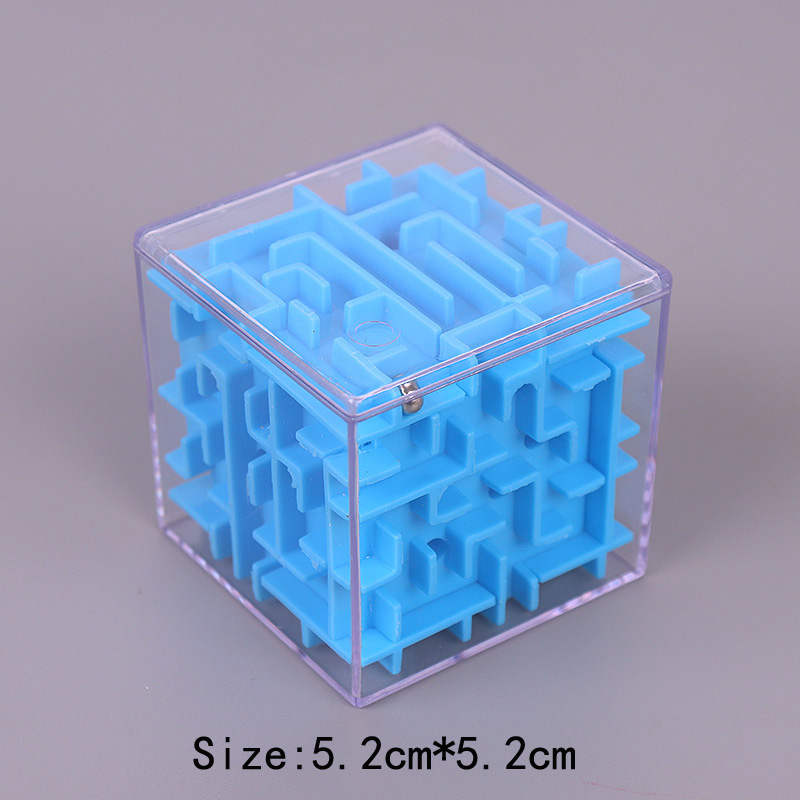 TOBEFU 3D Maze Magic Cube Transparent Six-sided Puzzle Speed Cube Rolling Ball Game Cubos Maze Toys for Children Educational 19