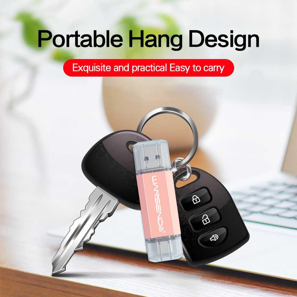 WANSENDA OTG Usb 3.0 USB フラッシュドライブタイプ C ペンドライブ 32 ギガバイト 64 ギガバイト 128 ギガバイト 256 ギガバイト 512 ペンドライブの Usb メモリスティックのための TYPE-C 携帯/PC