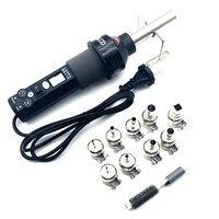 Herramientas de pistola de calor de 220V, Conector de cable termorretráctil, Tubo termorretráctil, Terminal de cable a prueba de agua ajustable con temperatura
