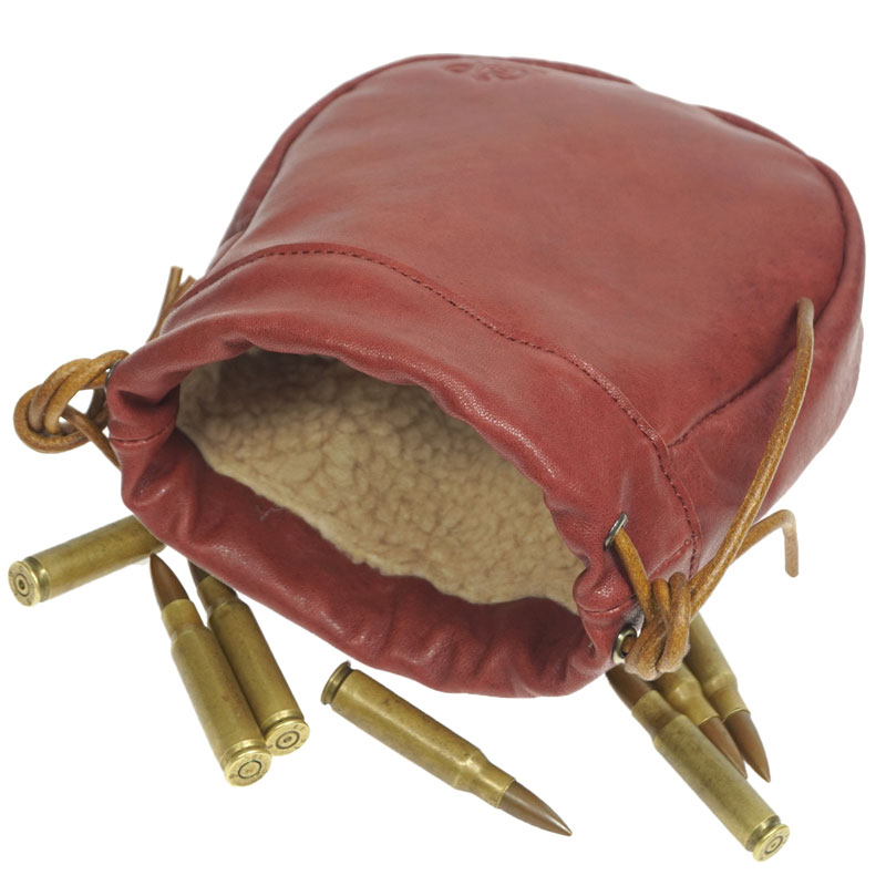 Hunting Ammo Shells Pouch Drawstring Leather Shotgun Cartridges Bag Bullet Carrier Case Gun Accessories For Shooting