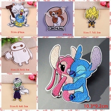 Cartoon Stitch Patch On Clothes Embroidered Anime Dragon Ball Patches for Clothing Iron For Applique Stripe F