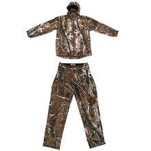 3D листья леса камуфляж охота толстовка куртка/брюки, Камуфляж Армии Лесной Размер M-XXL