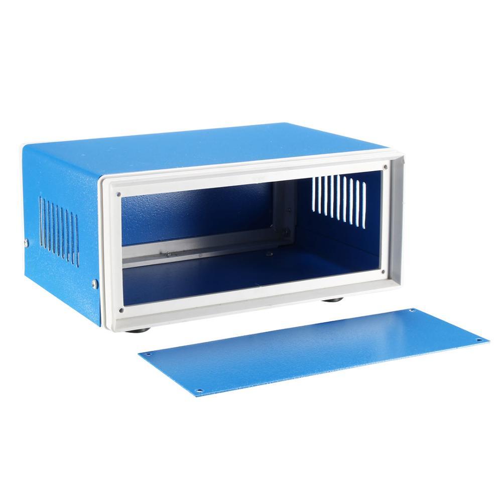 Uxcell Metall Blau Projekt Junction Box Gehäuse Fall 210x180x140mm 170x130x84mm elektronische Eisen DIY Gehäuse Box