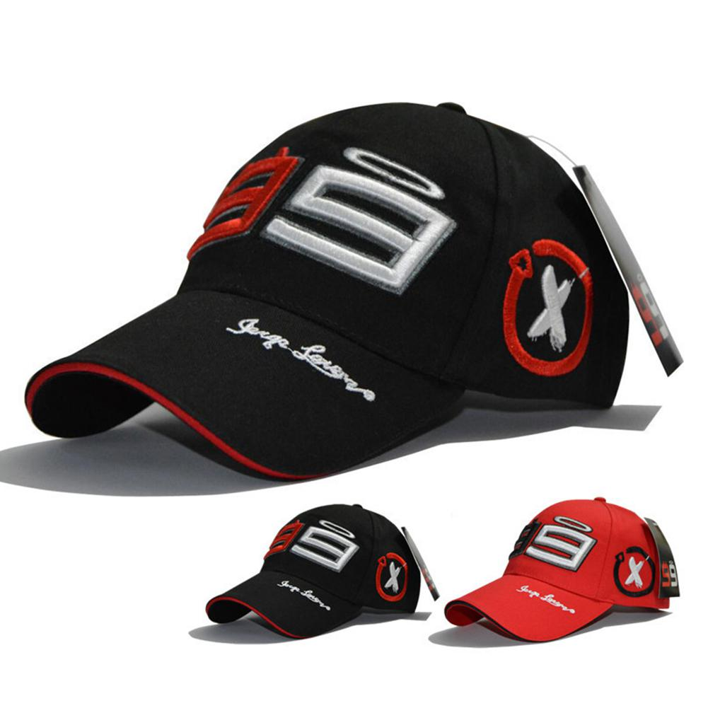 MeterMall Summmer Cotton Embroidery Season 99 Racing Sports Adjustable Baseball Cap Riding Hat Black / Red For Men Women