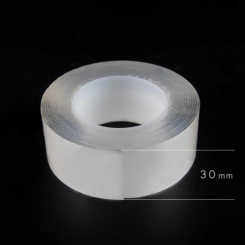 1000 millimetri Nano Nastro Biadesivo Nastro Adesivo Trasparente Per Uso Domestico Scotch Nastro Impermeabile Creativo Gekkotape FAI DA TE Materiale Gadget
