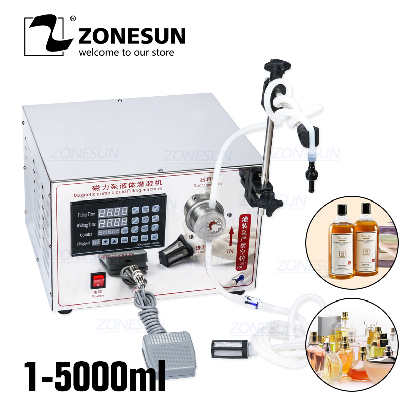 ZONESUN Single Head Small Water Athanol Filling Machine Disinfection Alcohol Perfume Filling Machine Liquid Filler Supply