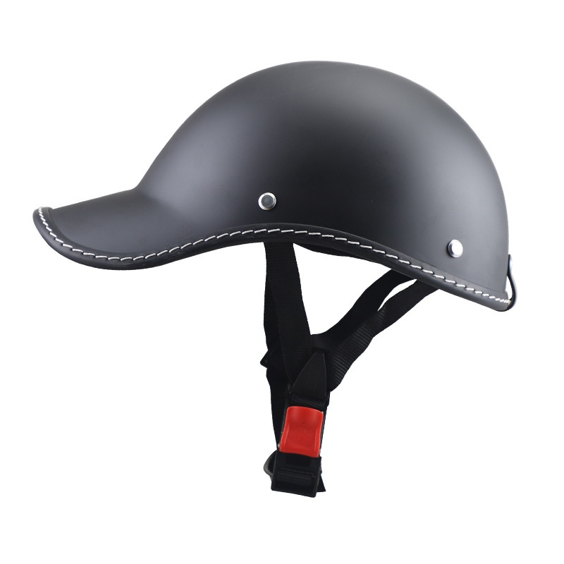 Baseball Cap Style Motorcycle Bike Helmet Anti-UV Safe Hat Visor Grid