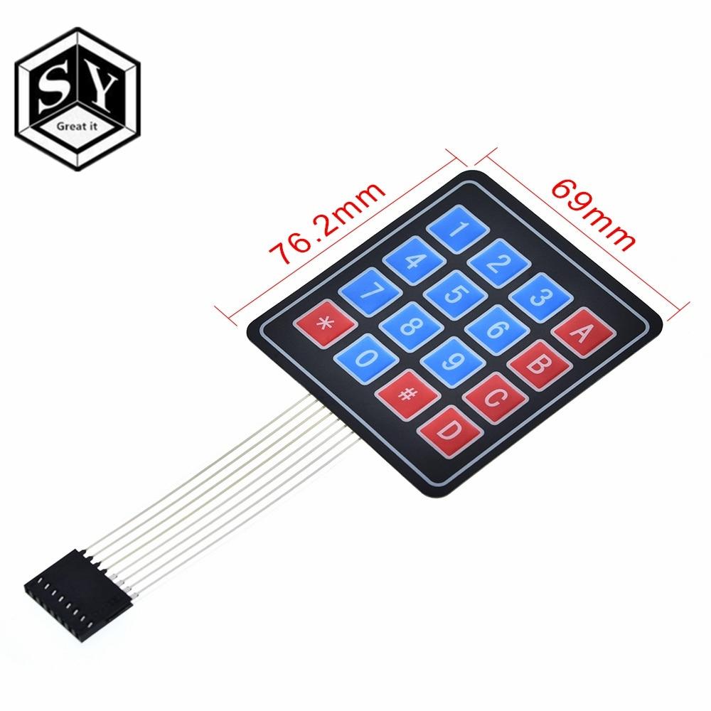 Tastatur Membran 4x4 16 Tasten Matrix Keypad Keyboard Schlüssel Arduino Kop