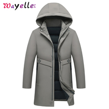 2019 Winter Hooded Men Jackets and Coats High Quality Warm Long Parkas For Men Solid Casual Fashion Men Jackets and Coats цена 2017